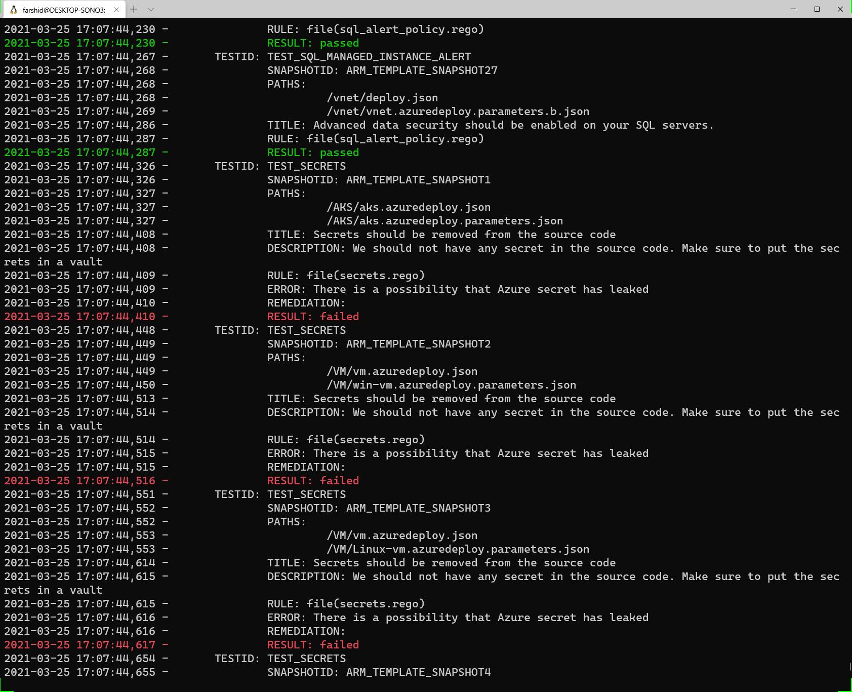 Azure IaC Security scan